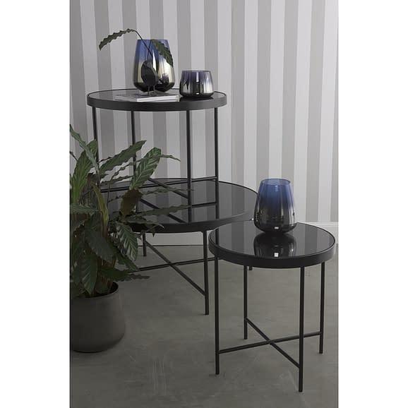 Zwart glas top - 60x46cm