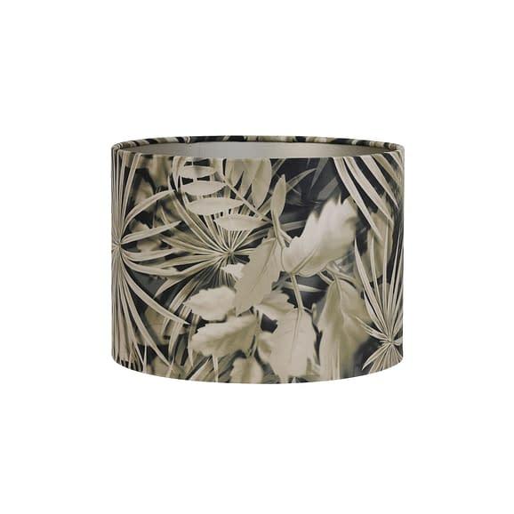 Kap cilinder 30-30-21 cm VELOURS palm sepia
