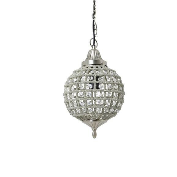 Hanglamp Ø20x38 cm CHEYENNE nikkel-kristal
