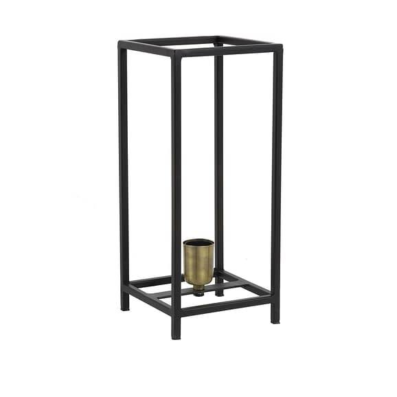 Tafellamp 16x16x38 cm MARLEY mat zwart-ant brons
