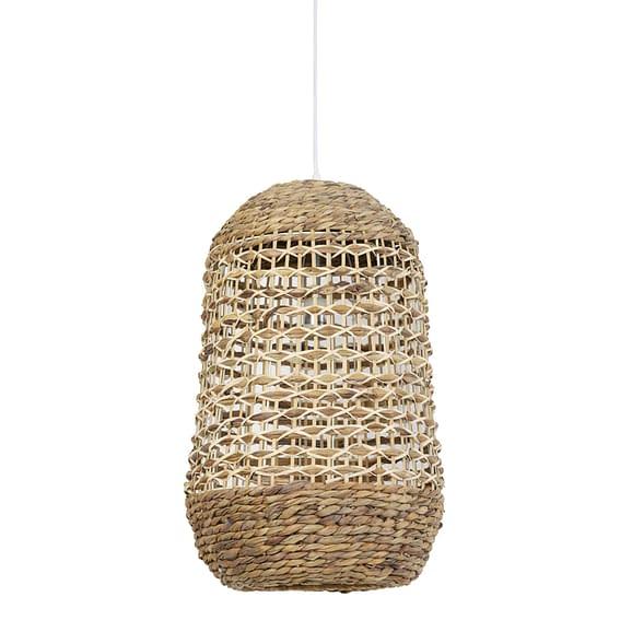 Hanglamp Tripoli - Rotan Naturel/Wit - Ø37