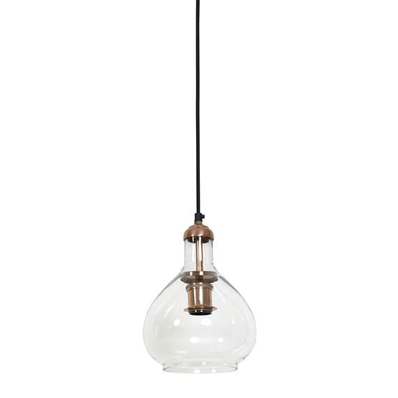 Hanglamp Ø19x28 cm DELA glas koper