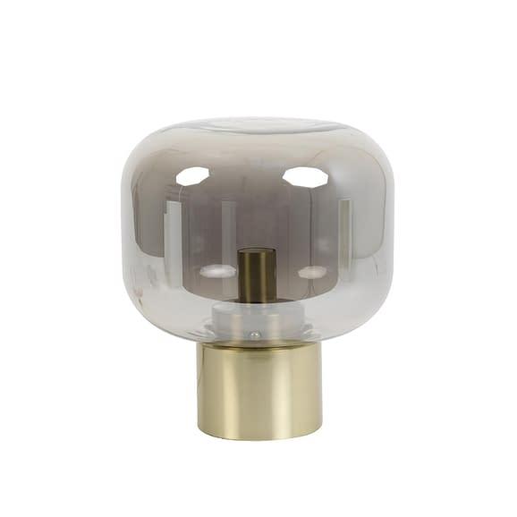 Tafellamp Arturan - Glas Smoke/Brons - Ø29
