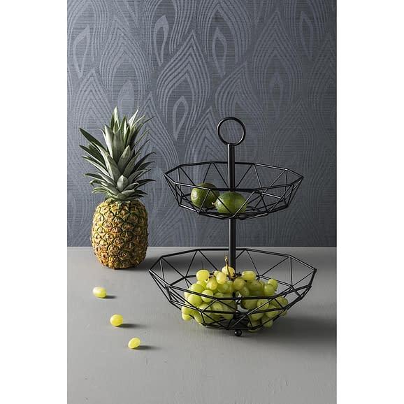 - Fruit basked Diamond Cut 2 layers iron matt black