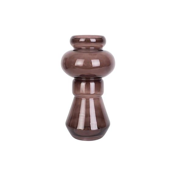 Bruin Vaas Morgana - Glas Chocolade Bruin - Medium - 18x35cm