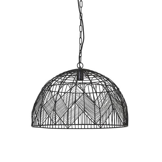 Hanglamp Ø55x39 cm KALIBO mat zwart