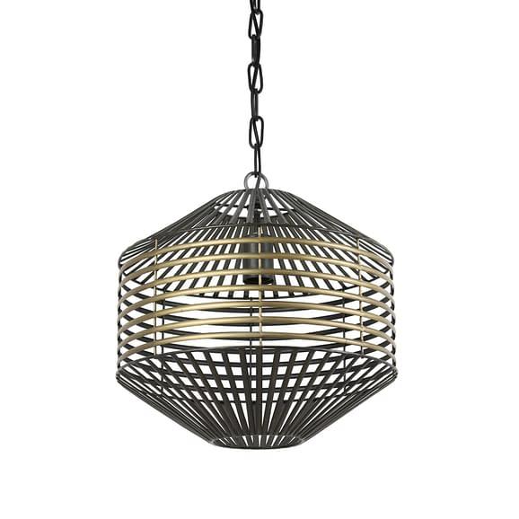 Hanglamp Selena - Antiek Brons/Mat Zwart - Ø57 x 48