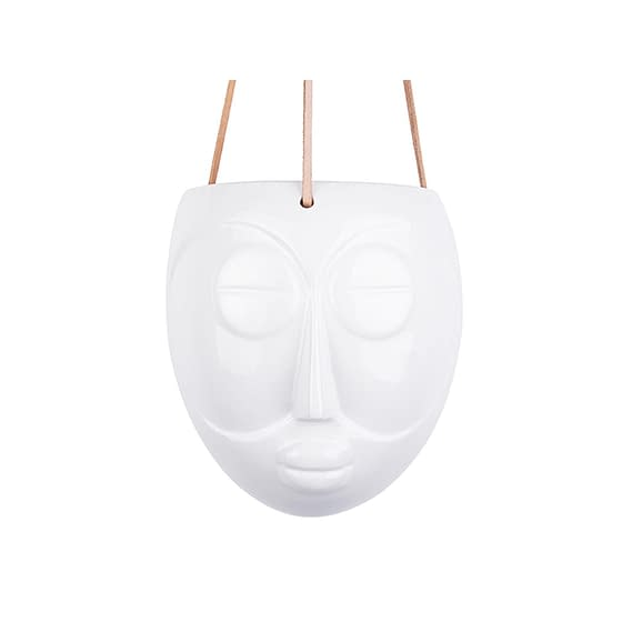 Wit Hangende plantenpot Mask - Glazuur Wit - 16