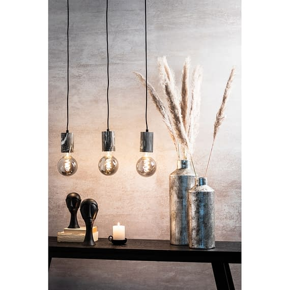 Moderne hanglamp met marmeren print