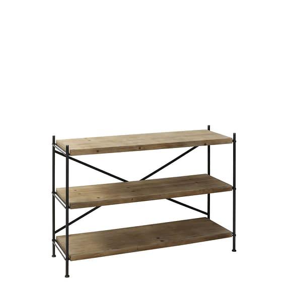 Stellingkast VINTO - metaal + hout - 3-laags