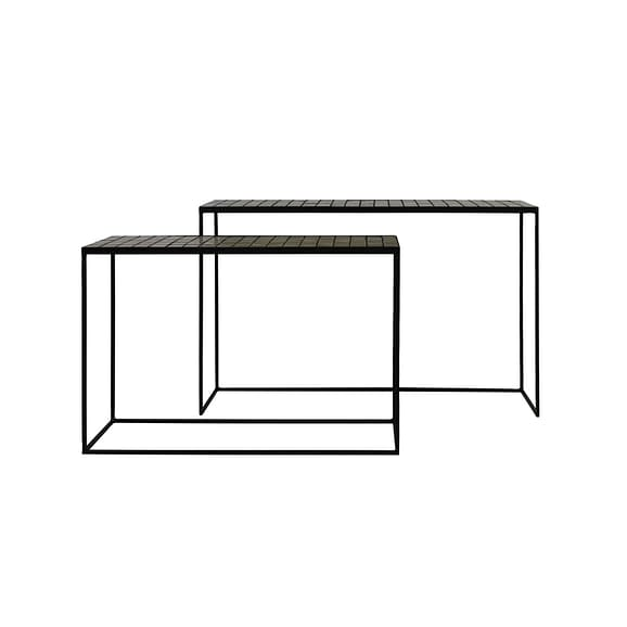 Sidetable Manjuto - Lichtbruin - Set/2 - 102x27x70 + 122x27x80 cm