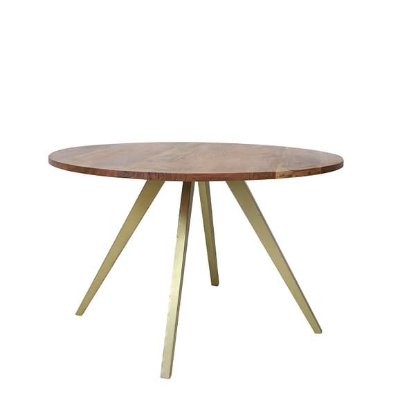Light & Living Eettafel Mimoso - Acacia hout/Antiek Brons - 120x78 cm
