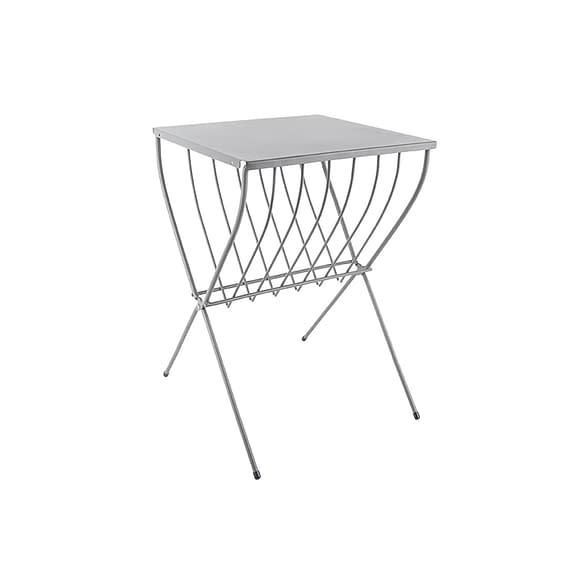 Grijs Side table Cross - Staal Grijs - 36x36x52cm