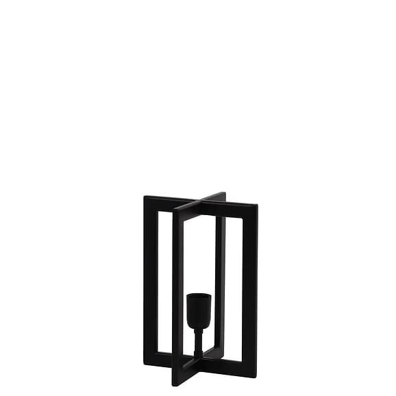 Tafellamp Mace - Zwart - 21x21x30 cm