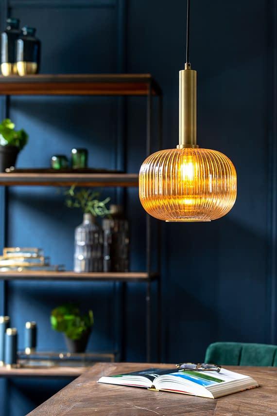 hanglamp glas goud