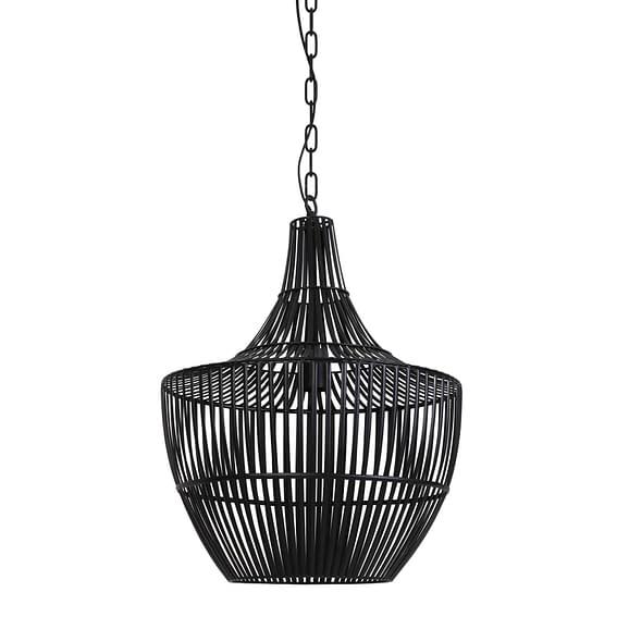 Hanglamp Stella - Mat Zwart - Ø47 x 62