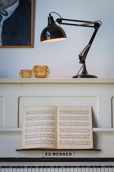 Zwart metalen bureaulamp 1811212
