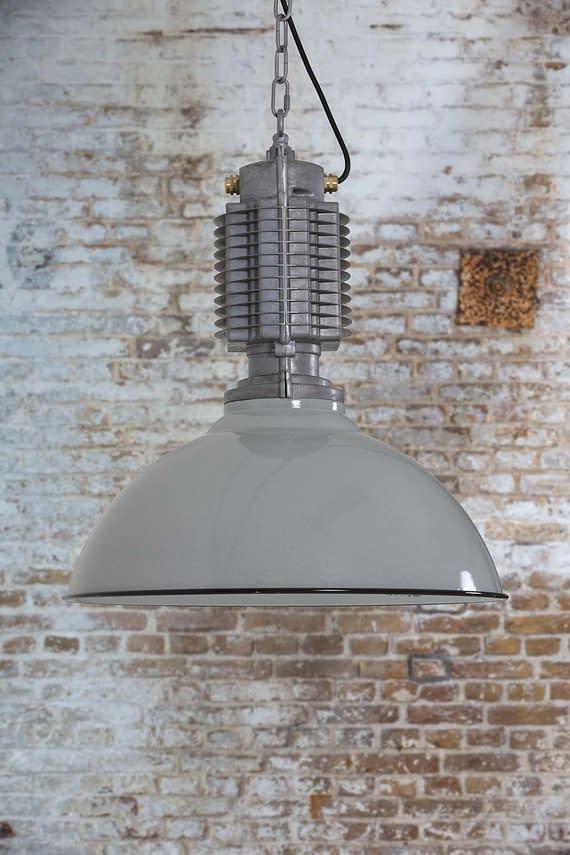 Grote hanglamp PHILL grijs