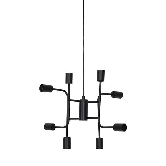 Hanglamp MARINELLE - Zwart - 8-lichtpunten