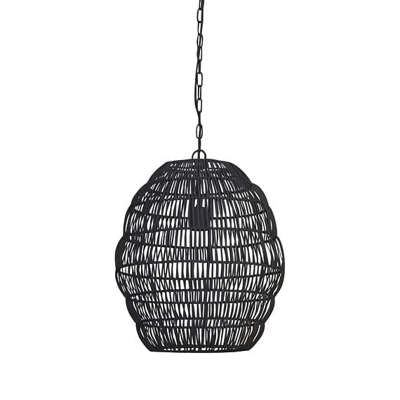 Hanglamp Ø40x50 cm TIRZA mat zwart