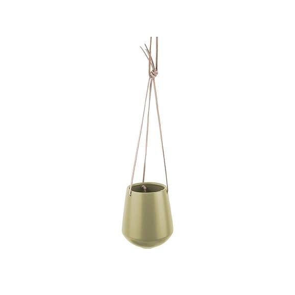 Groen Hangende plantenpot Skittle - Mat Olijfgroen - 66x13