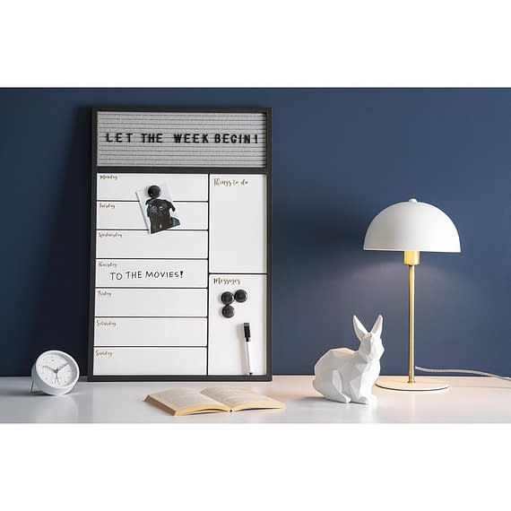 - Week planner Serene w. message board