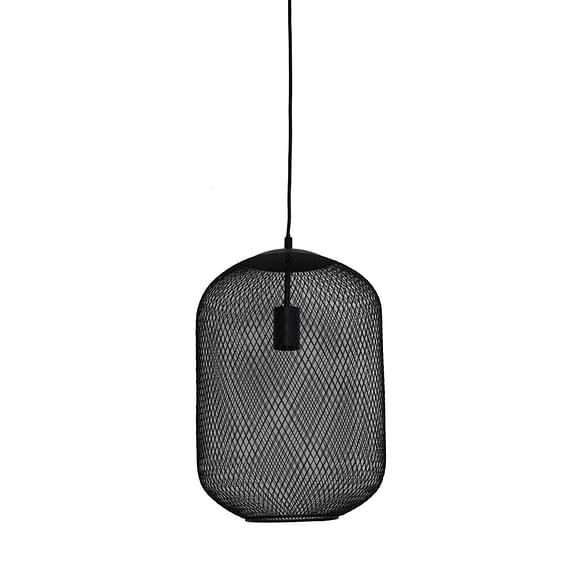Hanglamp Ø30x42 cm REILLEY mat zwart